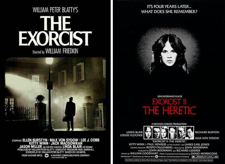 Plakaty filmów: Egzorcysta 1 i 2