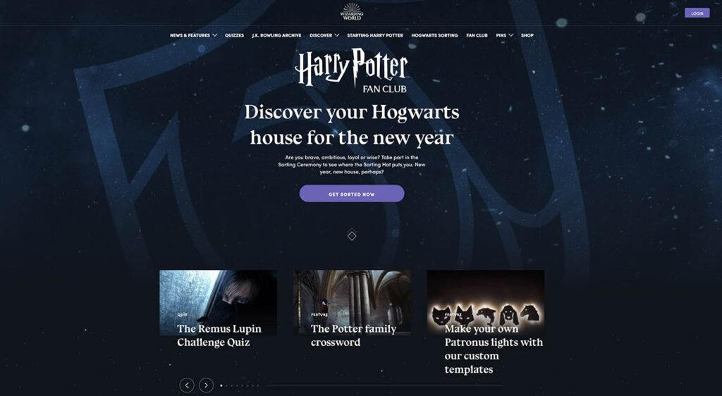 strona wizardingworld