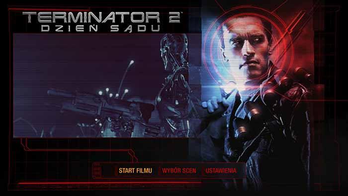 Menu płyty Blu-ray 4K Terminatora 2, Studio N