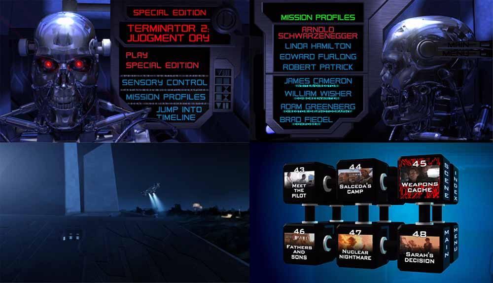 Menu płyty DVD Terminator 2 Vision