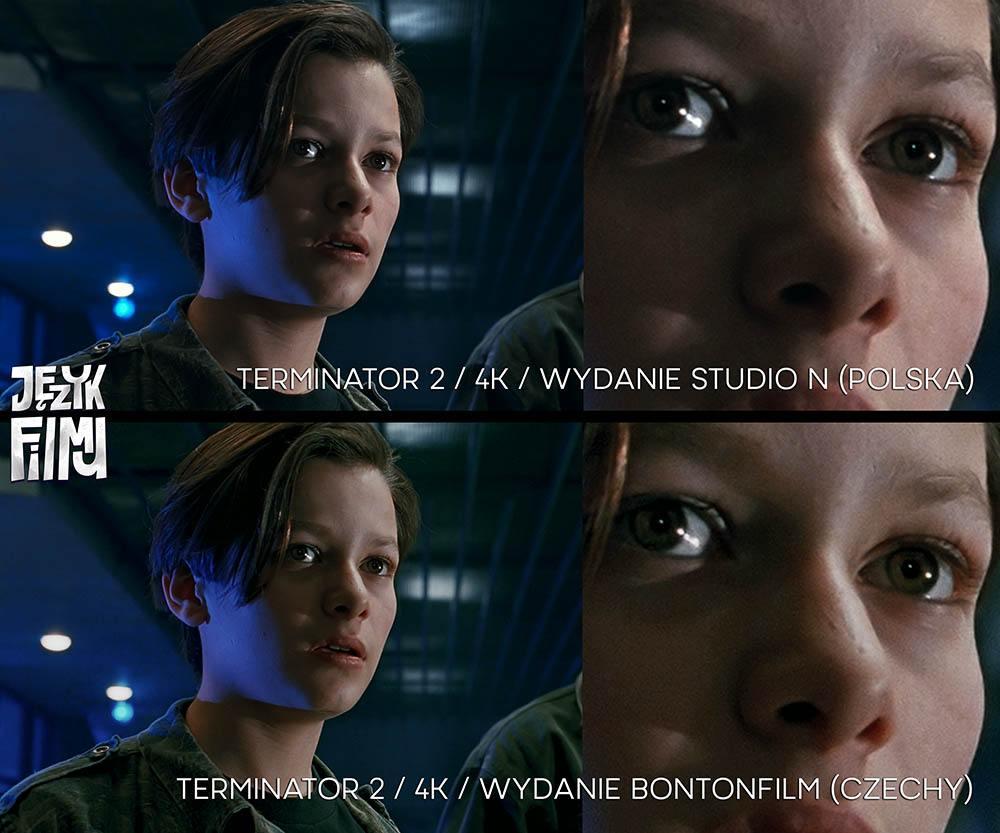 Porównanie jakości Terminator 2 4K